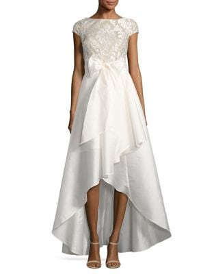Laced Emblem High-Low Ball Gown by Adrianna Papell