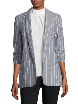 Striped Chambray Blazer by Ivanka Trump