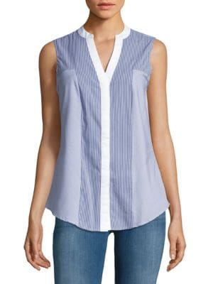 Striped Button-Front Top by Ivanka Trump