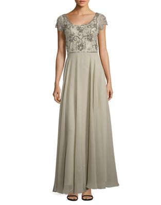 Short Sleeve Sage Gown by J Kara