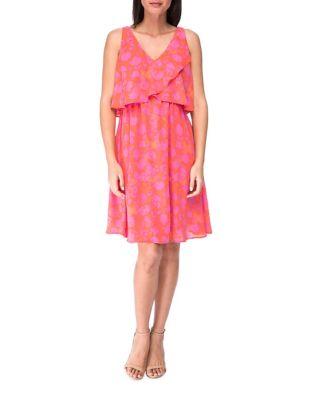 Printed Sleeveless Dress 500087057038