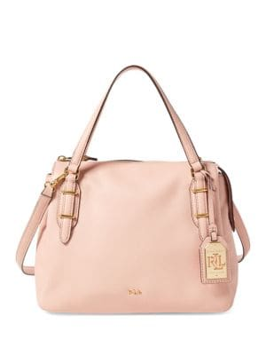 Easby Eileen Leather Satchel by Lauren Ralph Lauren