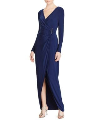 Faux-Wrap Gown by Lauren Ralph Lauren