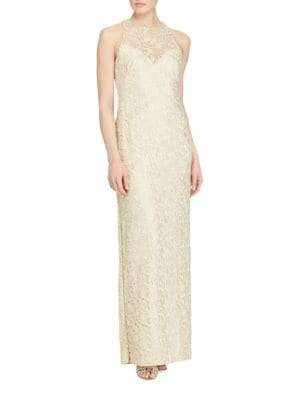 Sheer Slim-Fit Gown by Lauren Ralph Lauren