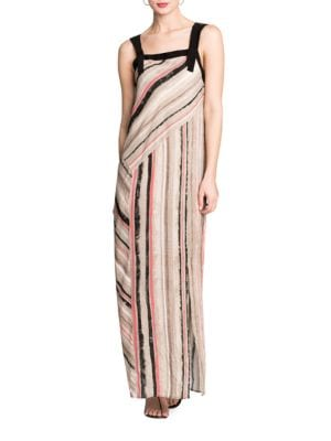 Straps Grassland Maxi Dress 500087057937