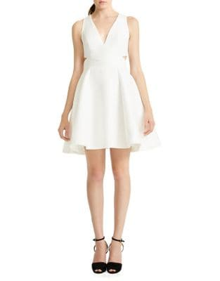 Zippered Sleeveless Dress by Halston Heritage