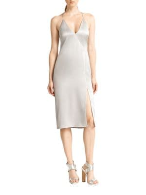 Solid Cami Slip Dress by Halston Heritage