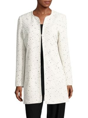 Open Front Tweed Topper Jacket by Karl Lagerfeld Paris