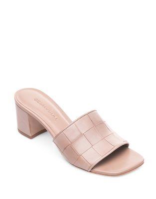 Bridget Leather Slides by Bernardo