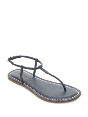 Lilly Leather T-Strap Sandals by Bernardo