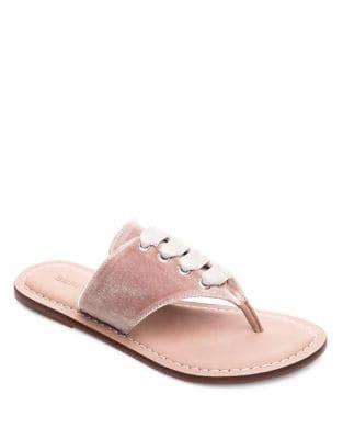 Matilda Velvet Thong Sandals by Bernardo