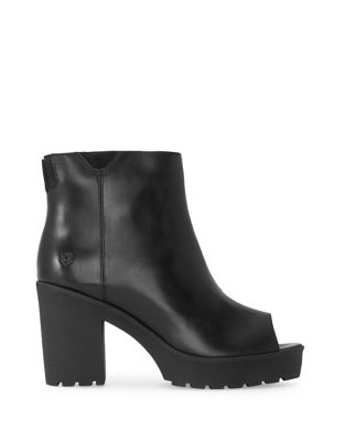 Buckle Nair Leather Booties by Liebeskind Berlin