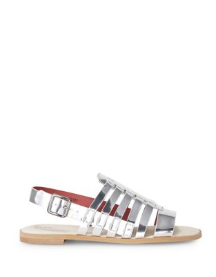 Metallic Leather Caged Slingback Sandals by Liebeskind Berlin