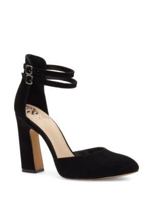 Dorinda Patent Leather Block Heel Pump by Vince Camuto