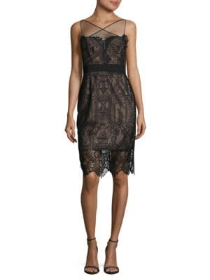 Illusion Lace Dress by Vera Wang