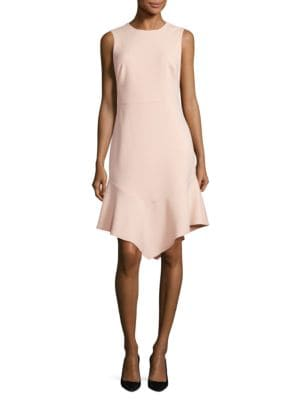 Asymmetrical Hem Sheath Dress by DKNY
