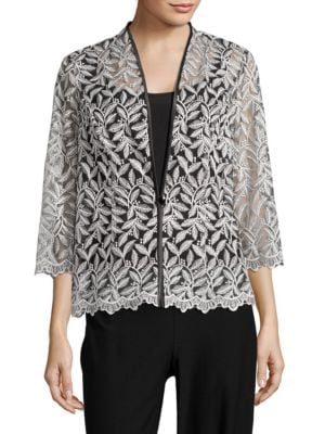 Embroidered Jacket and Tank Top Set by Alex Evenings