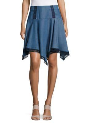 Chambray Handkerchief Skirt by Ivanka Trump