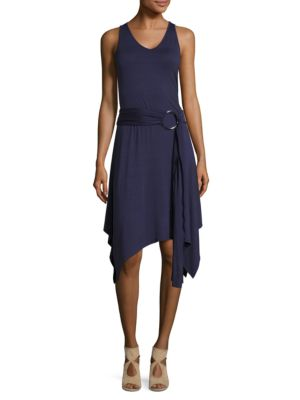 Belted Asymmetrical Dress by Ivanka Trump