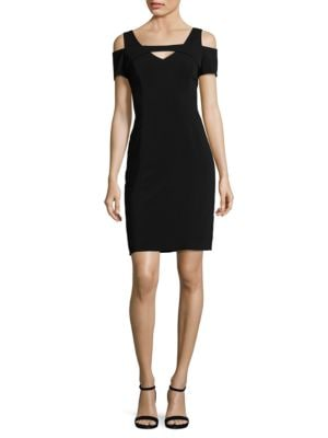 Solid Cold-Shoulder Sheath Dress by Nue By Shani