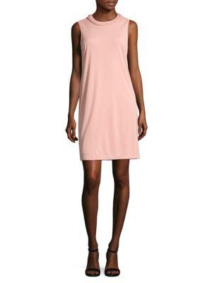 Braided-Neck Sheath Dress by DKNY