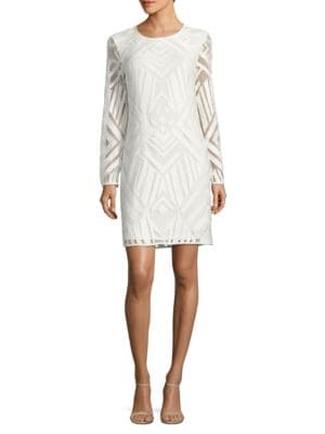 Geometric Sheath Dress by Calvin Klein Plus