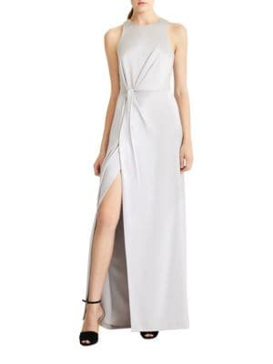 Draped Satin Gown by Halston Heritage