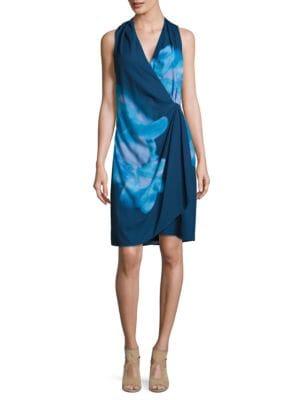 Printed Wrap Dress by DKNY