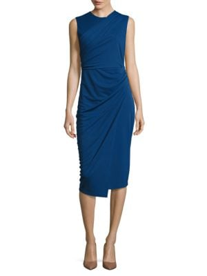 Draped Sleeveless Dress by DKNY
