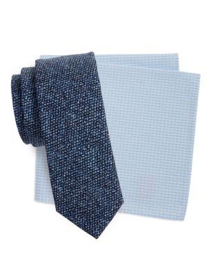 Mason Pocket Square and Necktie Set by Tallia