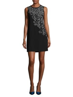 Lasercut Floral Sheath Dress by Calvin Klein