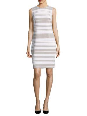 Photo of Striped Sheath Dress by Calvin Klein - shop Calvin Klein dresses sales