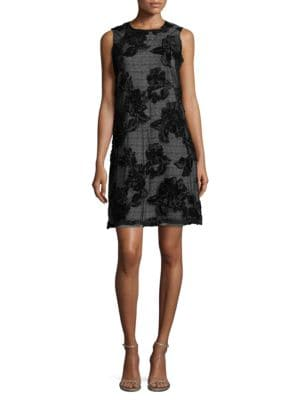 Mesh Floral Dress by Karl Lagerfeld Paris