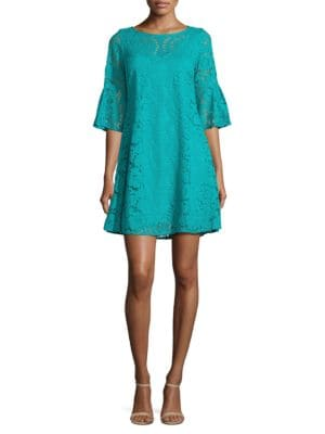 Three Quarter Sleeve Lace A-Line Dress by Gabby Skye