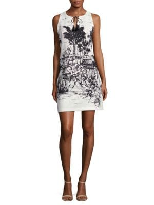 Printed Sleeveless Dress by Calvin Klein
