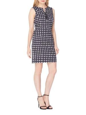 Dot Shift Dress by Tahari Arthur S. Levine