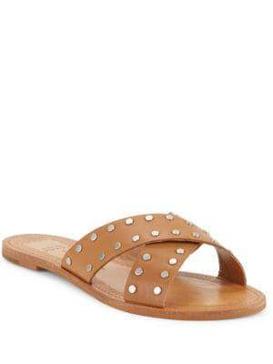 Casta Studded Leather Slide Sandals by Dolce Vita