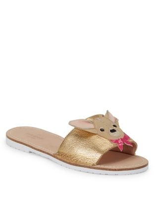 Isadore Metallic Leather Slides by Kate Spade New York