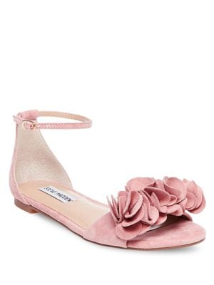 Dorothy Suede Flat-Sandals by Steve Madden