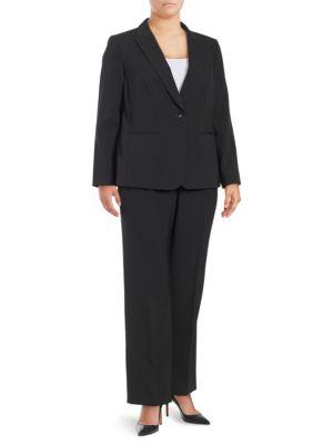 Plus Classic-Fit Pinstripe Suit by Tahari Arthur S. Levine