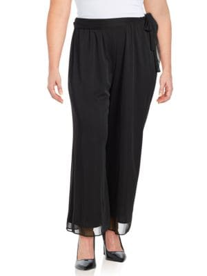 Plus Mesh Wide Leg Pants by Alex Evenings