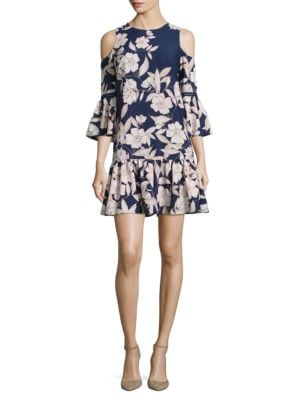Floral Cold Shoulder Dress by Eliza J