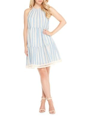 Halter Cotton Mini Dress by Maggy London
