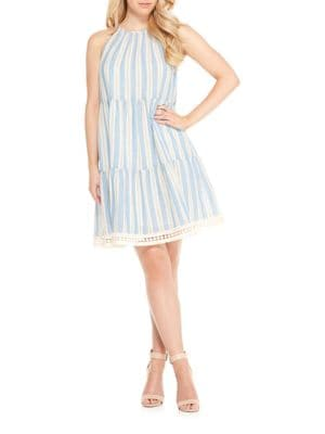Halterneck Tiered Dress by Maggy London