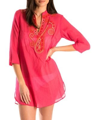 Paisley Swirl Applique Tunic by Amita Naithani