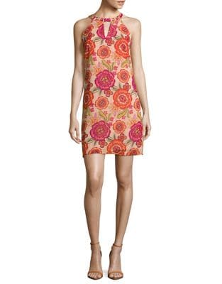 Sleeveless Floral-Print Dress by Taylor