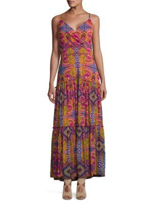 Jersey Mesh Kalediscope Maxi Dress by Taylor