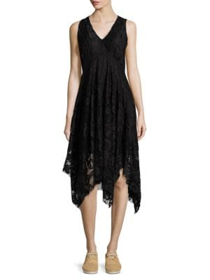 Lace Handkerchief Hem Dress by Taylor