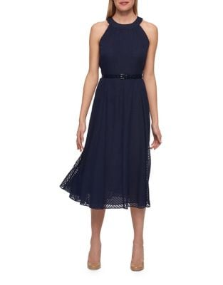 Textured Halter Dress by Tommy Hilfiger