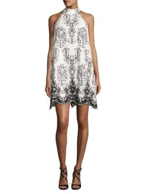 Trapeze Embroidered Dress by Badgley Mischka Platinum